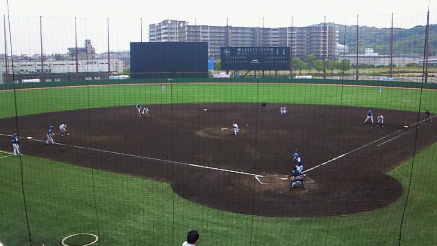 関西独立リーグ観戦中